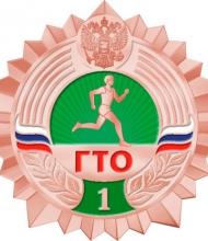 Значки ГТО (2014) - Бронзовый значок - ступень 1